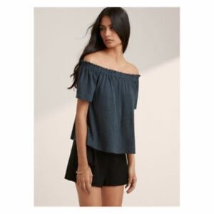 Aritiza Wilfred Off the Shoulder Linen Top